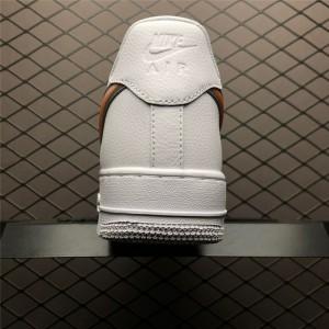 Men's/Women's Nike Air Force 1 Low Oversized Swoosh White Orange Peel