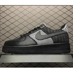 Men's/Women's Nike Air Force 1 Low Patchwork Black White