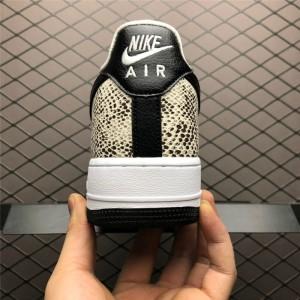 Men's/Women's Nike Air Force 1 Low Retro Cocoa Snake Black White