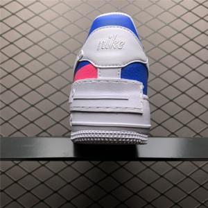 Women's Nike Air Force 1 Low Shadow Pink Blue Sale CU3012-111