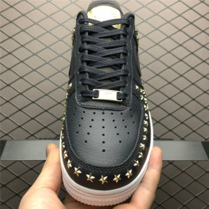 Men's/Women's Nike Air Force 1 Low Star Studded Black and White