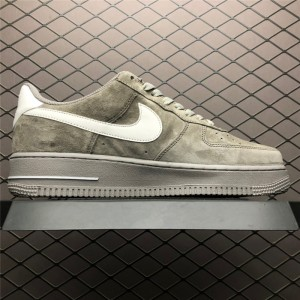 Men's/Women's Nike Air Force 1 Low Upstep Grey White Shoes