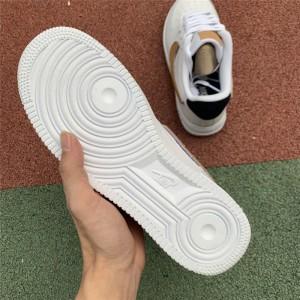 Men's/Women's Nike Air Force 1 Low White Obsidian-Vachetta