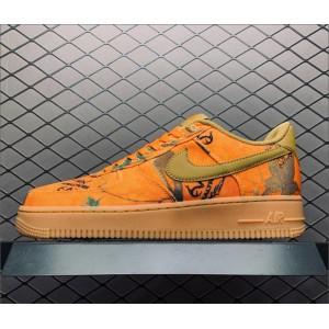 Men's/Women's Nike Air Force 1 Realtree Camo Orange