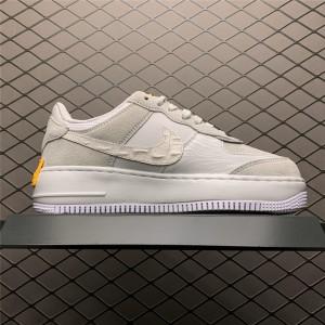 Women's Nike Air Force 1 Shadow Vast Grey Laser Orange