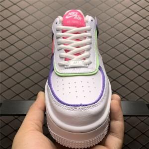 Women's Nike Air Force 1 Shadow White Purple Sneakers CI0919-051