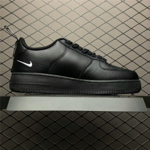 Men's Nike Air Force 107 Black White Tour Yellow