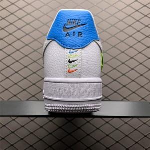 Men's/Women's Nike Air Force 107 White Green Blue On Sale
