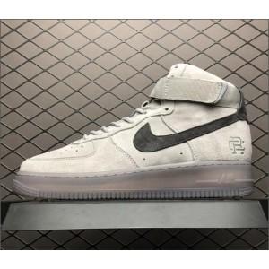 Men's/Women's Reigning Champ X Nike Air Force 1 High 07 AF1 Grey Black