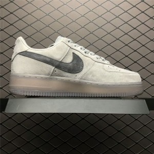 Men's/Women's Reigning Champ x Nike Air Force 1 Low 07 Suede Grey Black