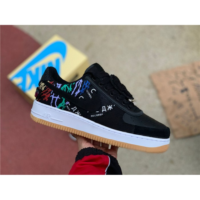 Men's/Women's Travis Scott x Nike Air Force 1 Astroworld Black Multi-Color