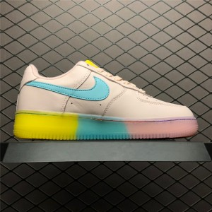 Women's Nike Air Force 1 Low Pink Blue Yellow 596728-020