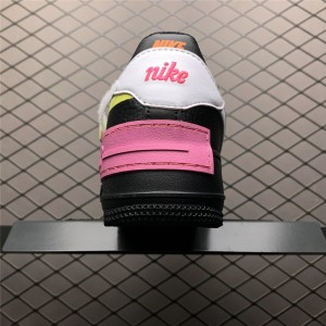 Women's Nike Air Force 1 Shadow Removable Patches Black Fuchsia