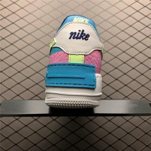 Women's Nike AF1 Air Force 1 Shadow Barely Volt Oracle Aqua