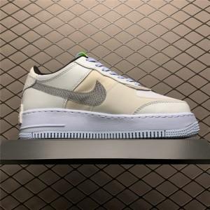 Women's Nike Air Force 1 Shadow Snakeskin Blue Swooshes