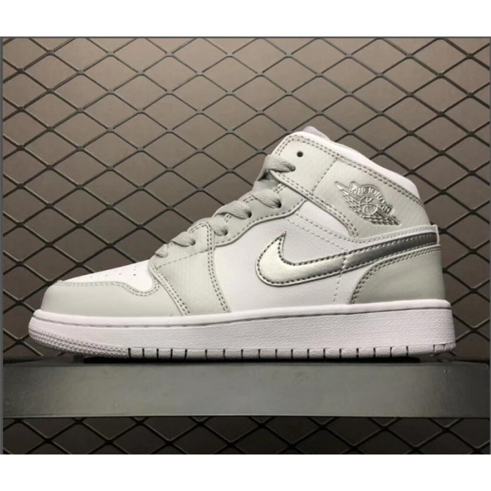 Women's Air Jordan 1 Retro Mid GS Grey Fog