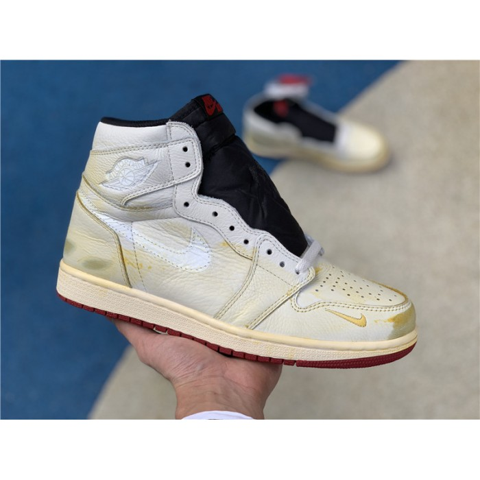 Men's/Women's Nigel Sylvester x Air Jordan 1 High OG Sail/Varsity Red