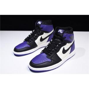 Men's Newest Air Jordan 1 Retro High OG Court Purple/Sail-Black