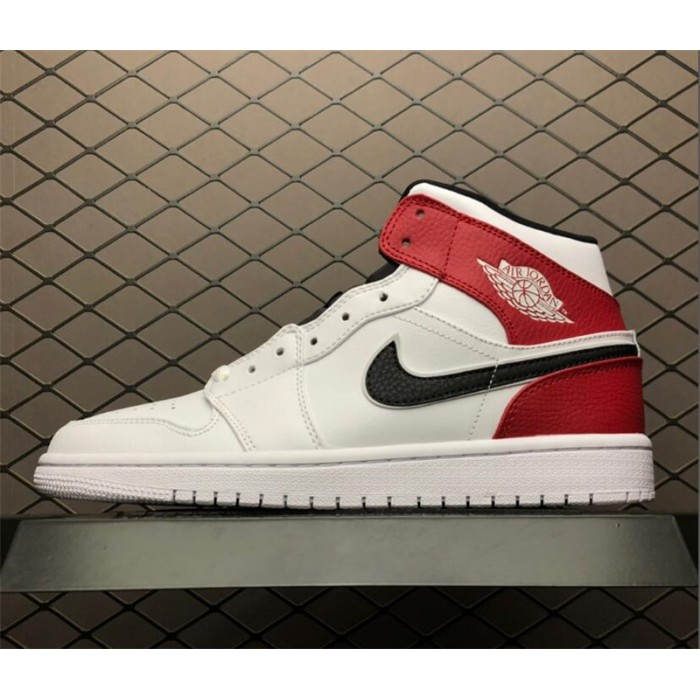 Men's Air Jordan 1 Mid Chicago White Black Red