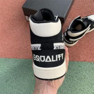 Men's/Women's Air Jordan 1 Mid SE BHM Equality White Black