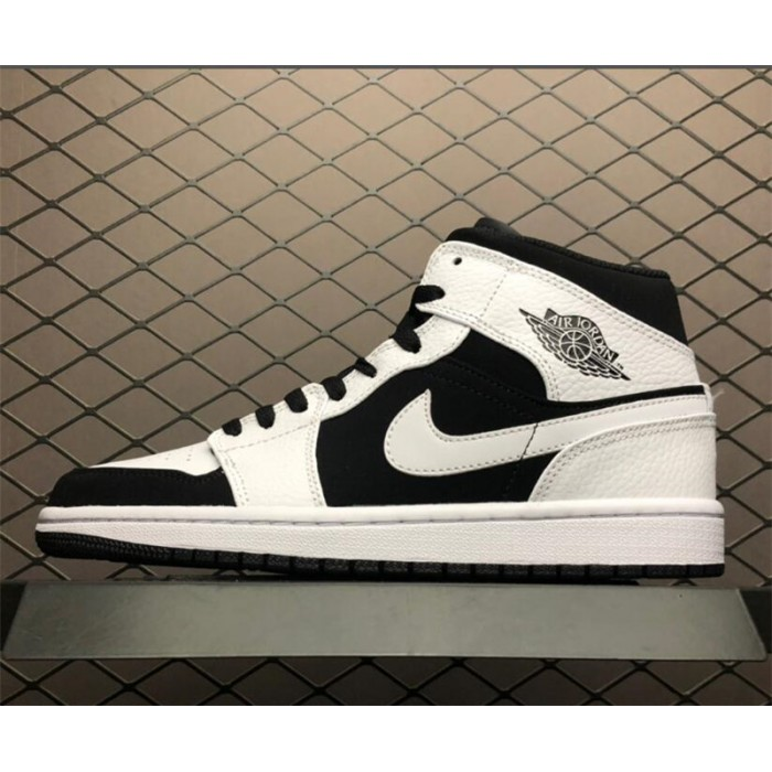 Men's New Air Jordan 1 Mid PS Tuxedo White Black
