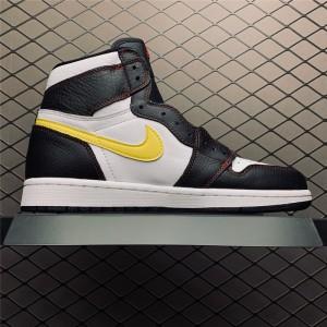 Men's Release Jordan 1 High OG Defiant White Black Sneakers