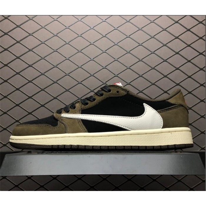 Men's Travis Scott Air Jordan 1 Low Dark Mocha CQ4277-001