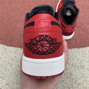 Men's/Women's Air Jordan 1 Low Black Red White CQ4422-600