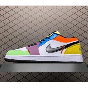 Men's/Women's Air Jordan 1 Low SE Lightbulb Multi-Color