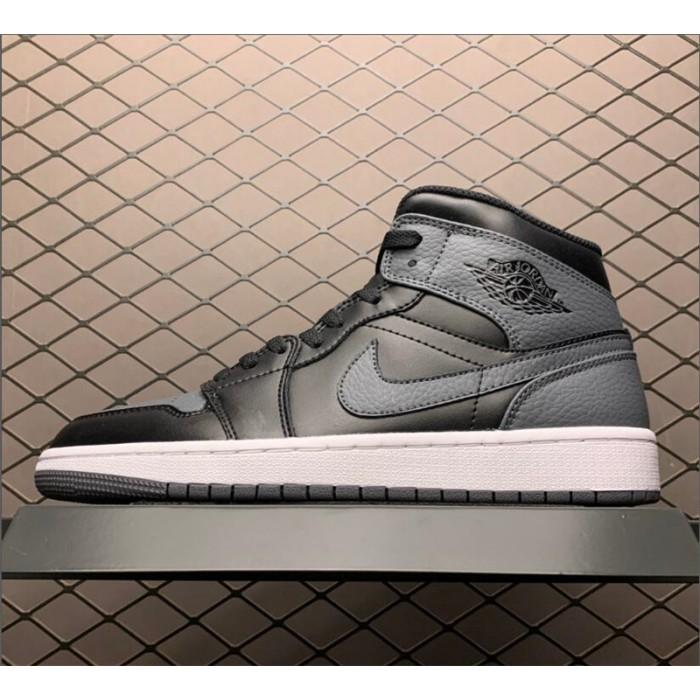 Men's/Women's Air Jordan 1 Mid Black Dark Grey
