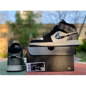 Men's/Women's Air Jordan 1 Mid Camo Shoes CW5490-001