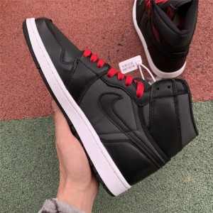 Men's/Women's Air Jordan 1 Retro High OG Satin Black Gym Red