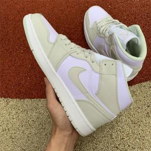 Men's/Women's Newest Air Jordan 1 Mid Spruce Aura Shoes