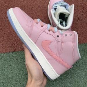 Men's Nike Air Jordan 1 Mid GG Pink White