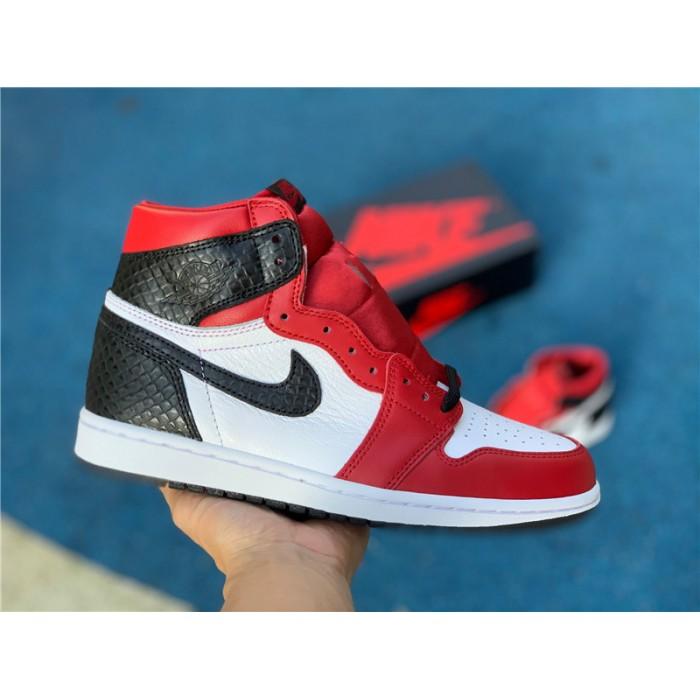 Men's/Women's Release Air Jordan 1 High Satin Snake