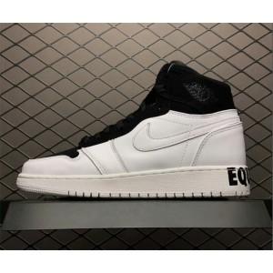 Men's/Women's Air Jordan 1 Retro High Equality Black/White Gold
