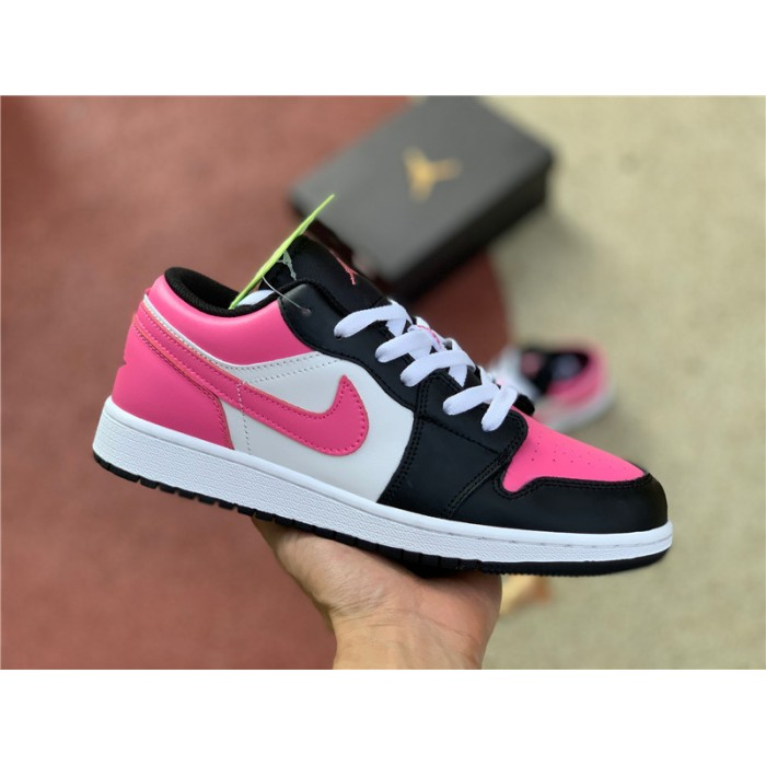 Women's Air Jordan 1 Low GS Pinksicle Black Pink White