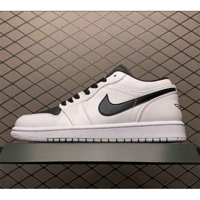 Men's/Women's Air Jordan 1 Low White Black Sneaker