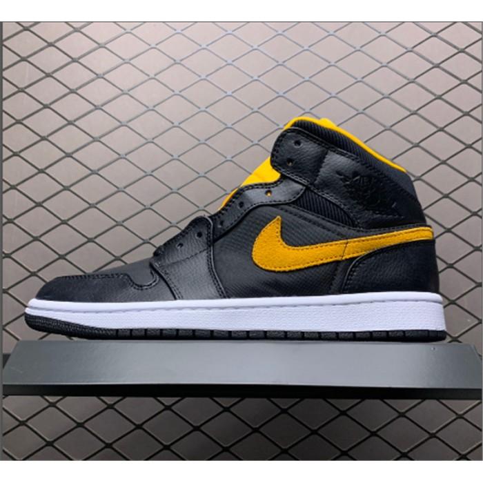Men's Shop Now Air Jordan 1 Mid Black/University Gold
