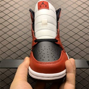 Men's Air Jordan 1 Mid Chicago Black Toe