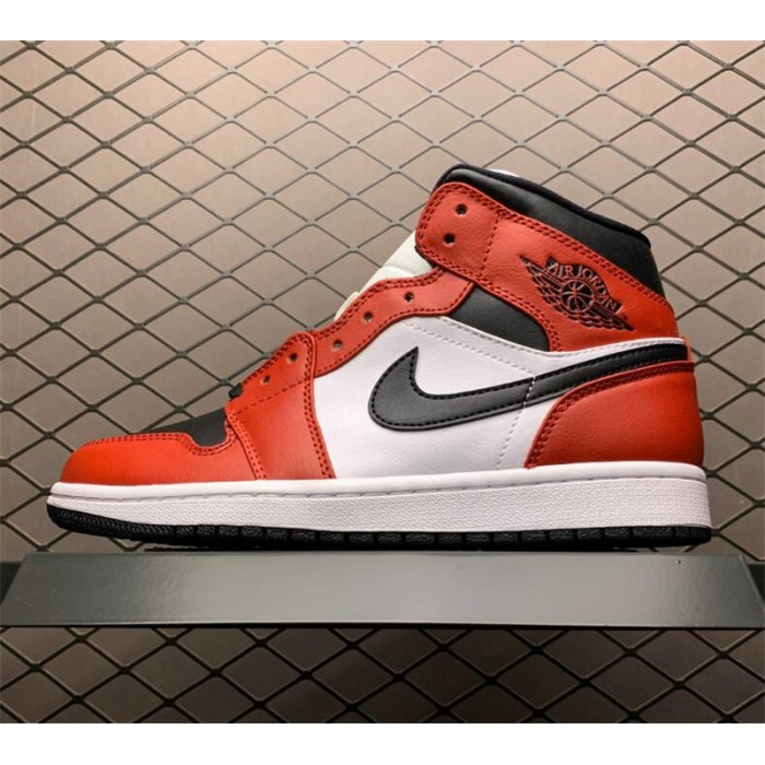 Men's Air Jordan 1 Mid Chicago Black Toe