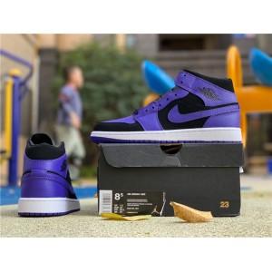 Men's Air Jordan 1 Mid Dark Concord Size 554724-051