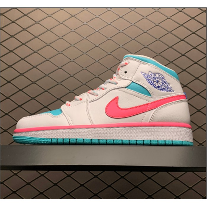 Women's Air Jordan 1 Mid GS Digital Pink Aurora Green