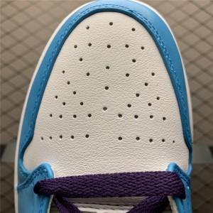 Men's/Women's Air Jordan 1 Mid Hornets Blue Purple White