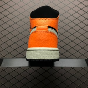 Men's Air Jordan 1 Mid Orange/Black