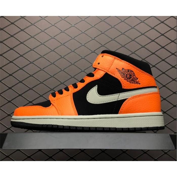 Men's Air Jordan 1 Mid Orange/Black