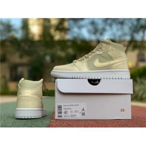 Men's Air Jordan 1 Mid SE Lemon Yellow Sneakers