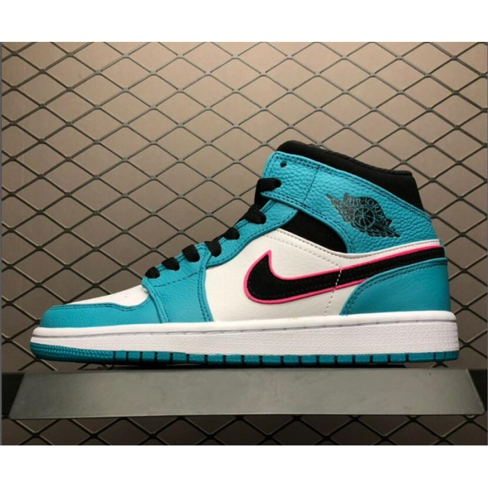 Men's Air Jordan 1 Mid SE South Beach Turbo Pink-Orange Peel