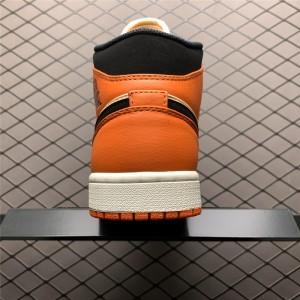 Men's Air Jordan 1 Mid Team Orange Black For Men
