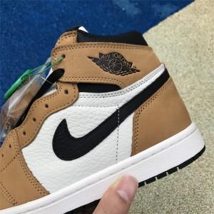 Men's Air Jordan 1 Retro High OG Wheat Gold Harvest/Black